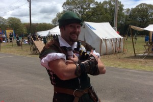 Robbin Hood makes off with our products at the CT Renaissance Fair - 2017 ©2017 Sam & Oliver, LLC - all rights reserved